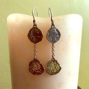 Silpada Rare Coin Earrings